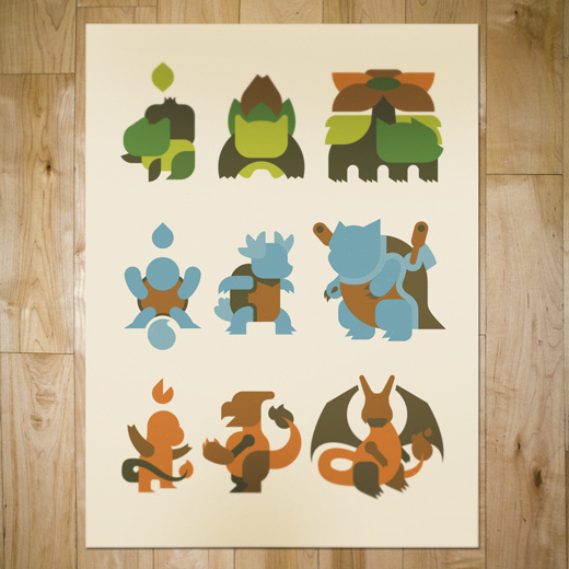 art prints : bandito design co. #print #screen #illustration #poster #pokemon