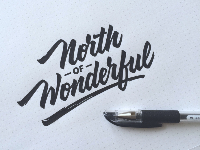 North of Wonderful #typography #hand lettering #logo type #calligraphy