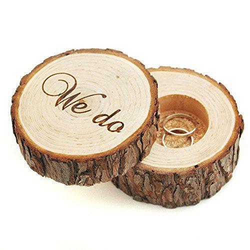 Timber & Bark Wedding Ring Box