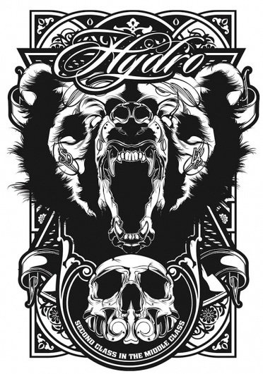 Back in Black « Hydro74 || Digital Chaos Perfected. #bear #illustration #hydro #skull