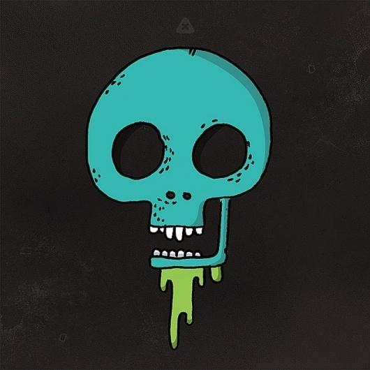 Flickr: Your Photostream #micahburger #drips #ohio #illustration #drawn #skull #hand