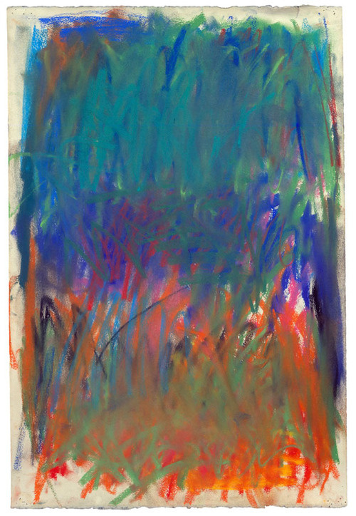 Joan Mitchell #color #drawing #art #pastel