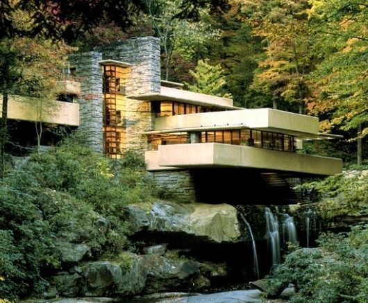The Architecture of Mid-Century Modern #wright #house #fallingwater #architecture #mid #frank #century #lloyd