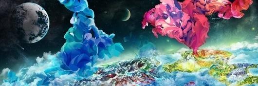 Subspace - KFKS #ocean #islands #kfks #subspace #kaerfkrahs #space #colors #sea #planets #cosmic