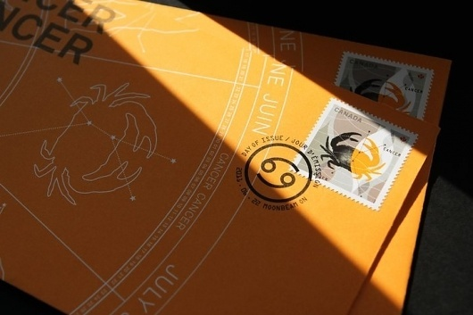Postes Canada - Timbre le Cancer #stamp #design #neat #illustration #paprika