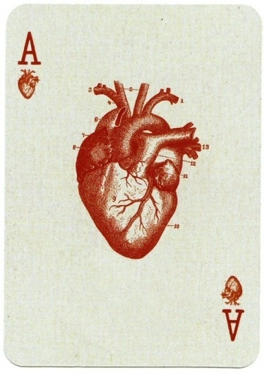 I love monday #heart #deck #of #ace #hearts #cards