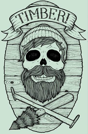 TIMBER! t shirts #illustration #eaton #chad