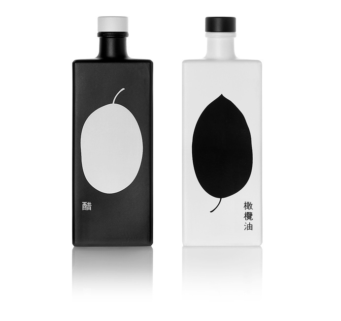 GAEA, oil and vinegar | mousegraphics #oil and vinegar #packaging