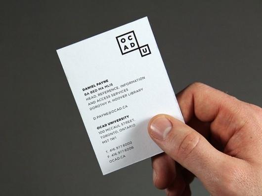 bruce mau design: new OCAD identity #stationary #of #ontario #design #college #bruce #art #and #mau