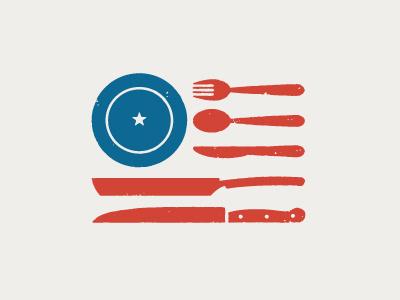 American Palate #flag #j #design #logo #restaurant #brand #fletcher #usa