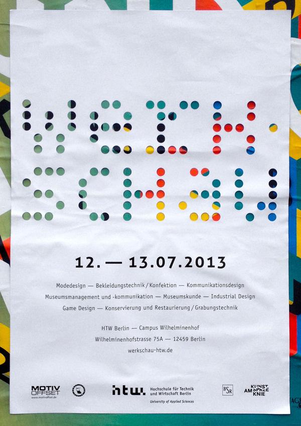 Bis der Pförtner kommt postersofberlin: Werkschau at HTW – found in... #color #poster
