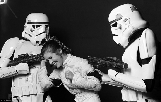 Empire Strikes Backstage: Intimate pictures of cast and crew during filming of 1980 Star Wars movie | Mail Online #princess #wars #leia #star #stormtroopers