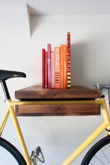 Bike Shelf | #design #wood #bicycles #carpentry #shelf