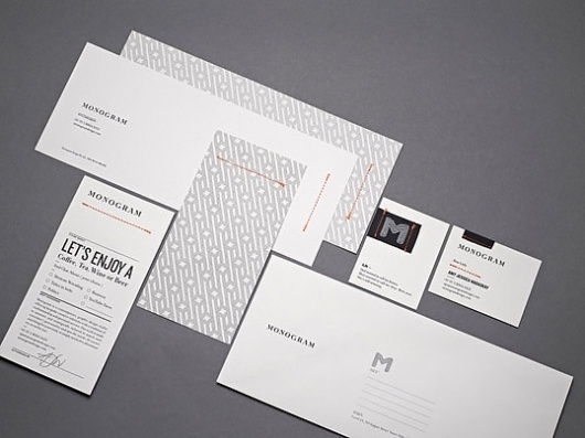 Monogram : Lovely Stationery . Curating the very best of stationery design #brand #identity