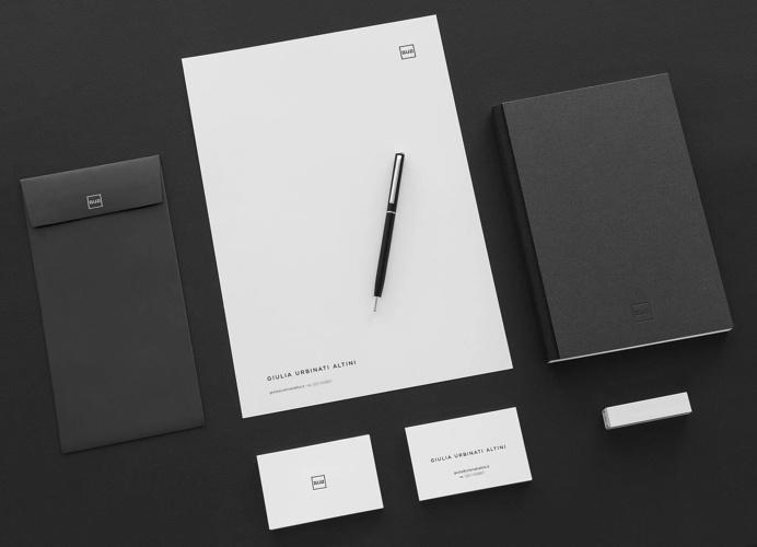 Giulia Urbinati Altini / Personal Brand Business Cards - Stationery tags: brand, personal brand, logo, social media, black and white, minim