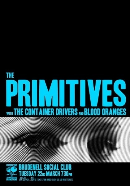 GigPosters.com Primitives, The Container Drivers, The Blood Oranges #design #posters #typography