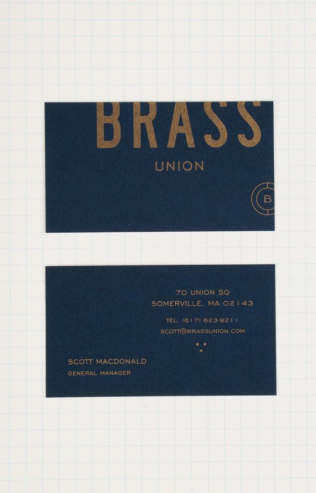 Best Branding Brass Union Business Card images on Designspiration