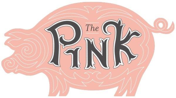 The Pink Pig | Fredricksburg, TX #lettering #fry #pig #illustration #barrett #logo