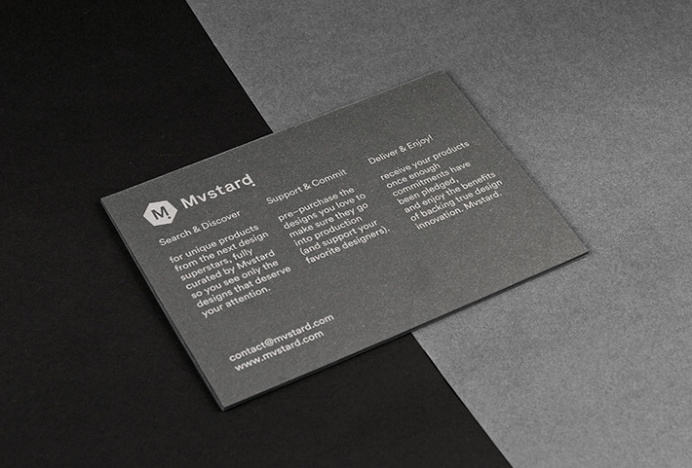 Mvstard! by Think Work Observe #brand design #stationery #business card