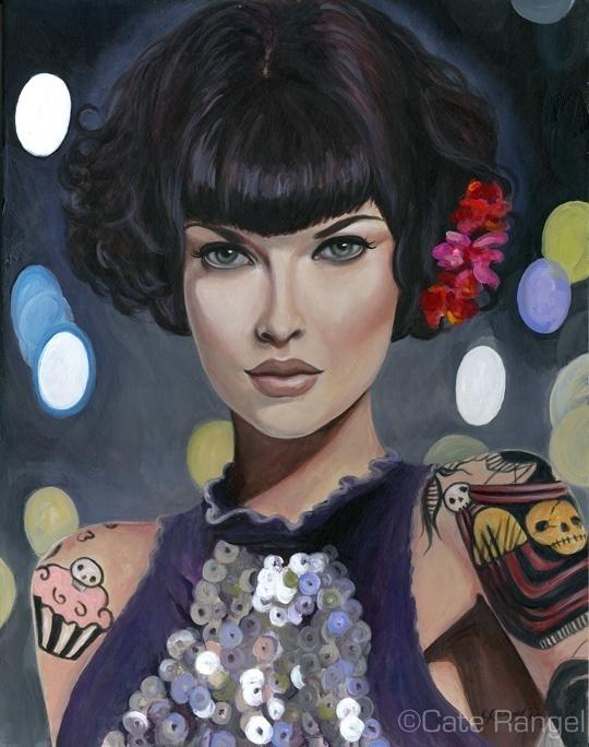 Lacy - Cate Rangel #paint #illustration #illustrator #woman