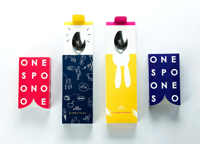 PACKAGING | ONESPOON on Behance #printed #colourful #happy #culinary #packaging #bold #box #fun #drawing