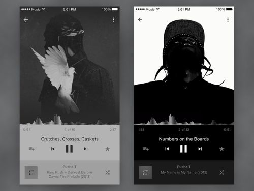 "grafikr: "" UI / UX: Daily UI #9 - Music Player """