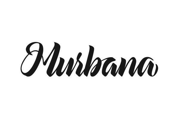 Murbana by Enisaurus #calligraphy #lettering #brand #brushpen #typography