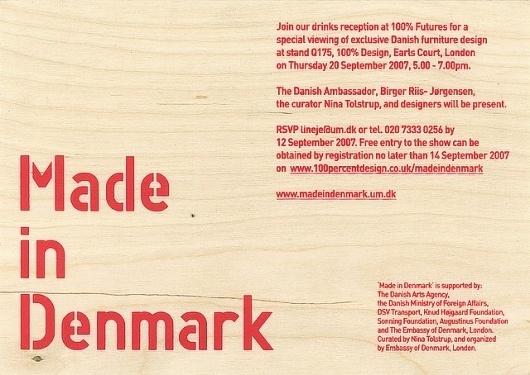 Made in Denmark | Danish Arts Council | Flickr - Photo Sharing! #invitation #screenprint #stencil #wood #type