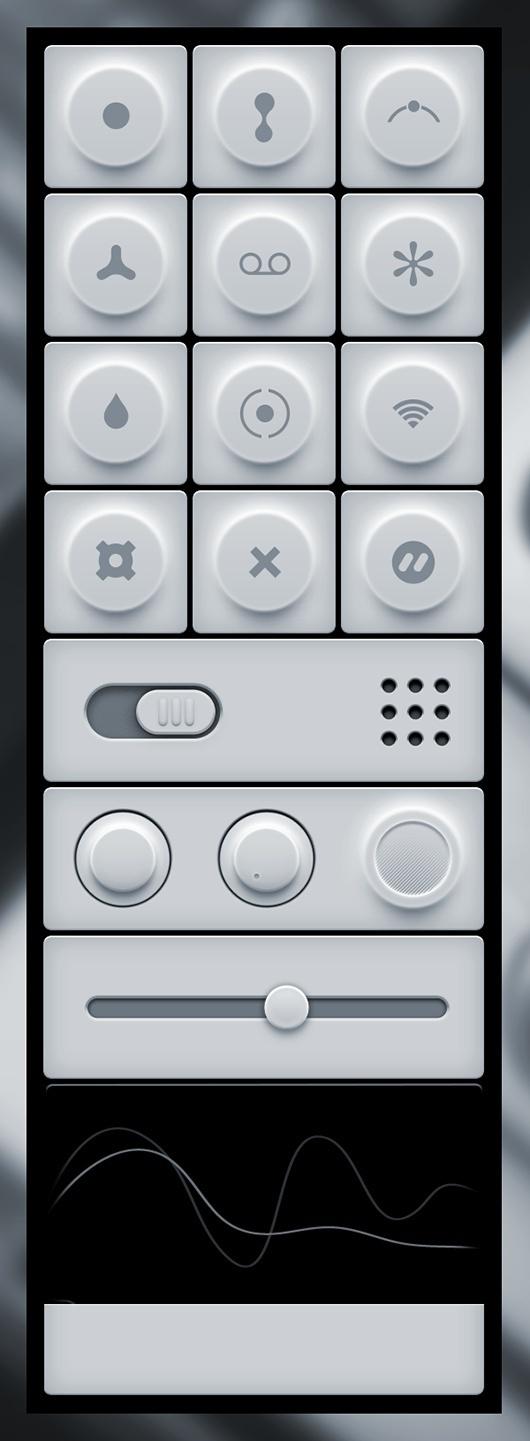 Minimal Light User Interface Freebie #user #interface