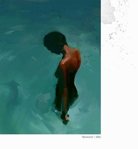 FFFFOUND! | Owen Freeman Illustration #nude #painting #freeman #bronzed #2006 #owen
