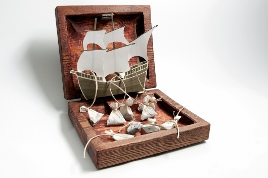Lost at Sea Tea Company // Package Design #at #sea #tea #company #lost