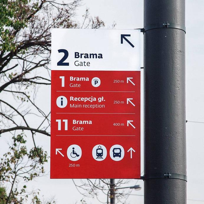 Wayfinding | Signage | Sign | Design | parking 停车场车站红色标识