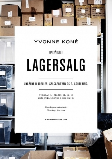 anywho > Yvonne Koné outlet #fashion #invite #minimal #typography