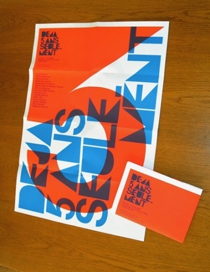 AisleOne - Graphic Design, Typography and Grid Systems #orange #poster #sylvia #blue #tournerie #typography