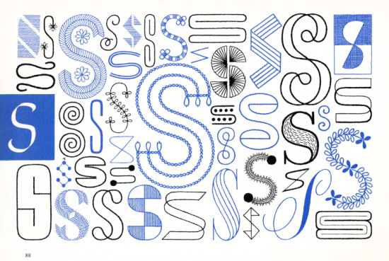 S, Embroidery Letterforms, Present and Correct