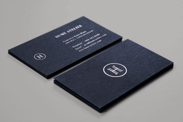 Hume Atelier Business Cards #business #cards #branding #typography
