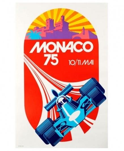 grain edit · Monaco 1975 Grand Prix Automobile Race Poster