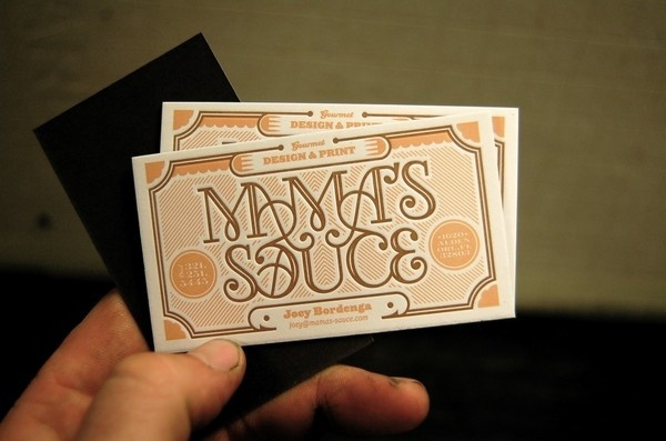 Mama's Sauce Cards #card #print #design #business
