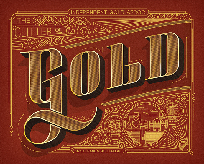 Gold Lettering Typography