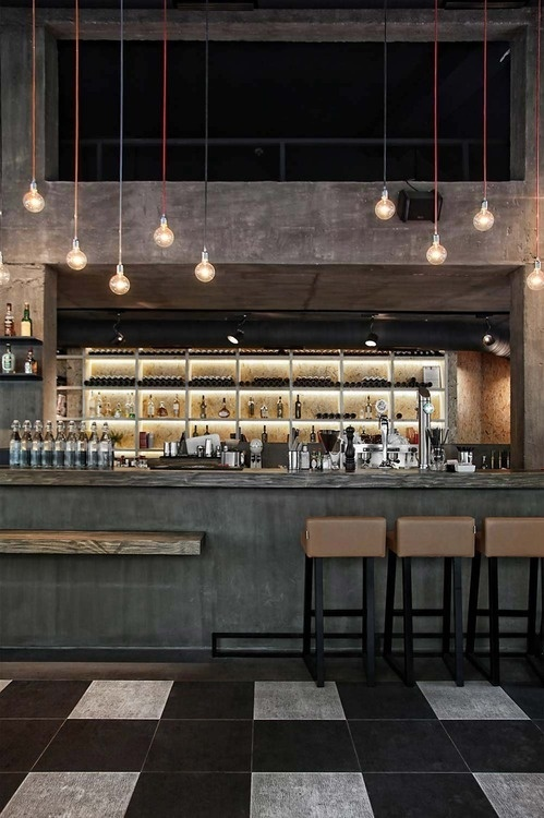 CJWHO ™ (Esé Studio | Music Cafe Athens What immediately...) #design #interiors #wood #cafe #industrial #architecture #greece #athens