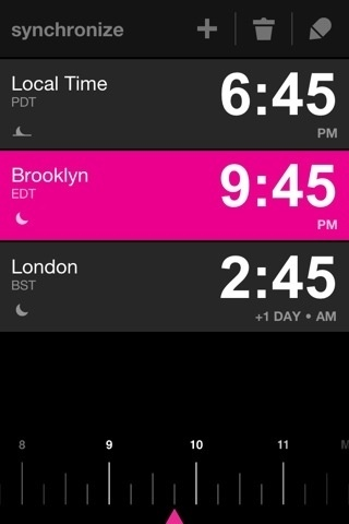 lovely ui (icons on synchronize) #pink #iphone #4 #app #typography