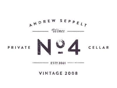 Andrew Seppelt Wines ~ No.4 #rhodes #branding #wine #label #cj #logo