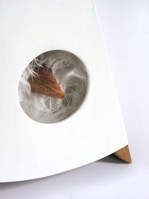 Dan Bina, Birdie Lamp #lamp #sculpture #bina #2012 #design #dan #bird #wood #art #lighting #detail