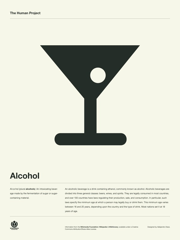 The Human Project Poster (Alcohol) #inspiration #creative #information #pictogram #collection #design #graphic #human #grid #system #poster #typography