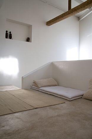 Monastic. Photo by Mark Eden Schooley. #monastic #bedroom