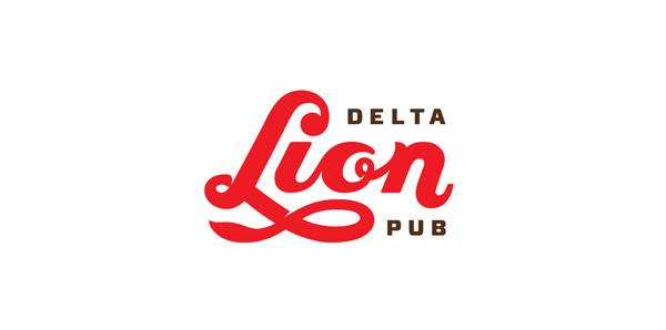 Delta Lion Pub designed by St Bernadine #type #lettering #script #logo