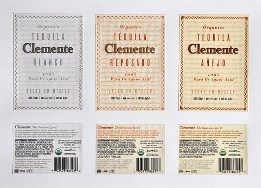 Clemente Tequila | David Airey, graphic designer #tequila