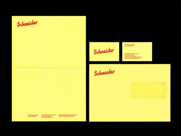Bureau Collective – Schneider Garage #yellow #car #garage