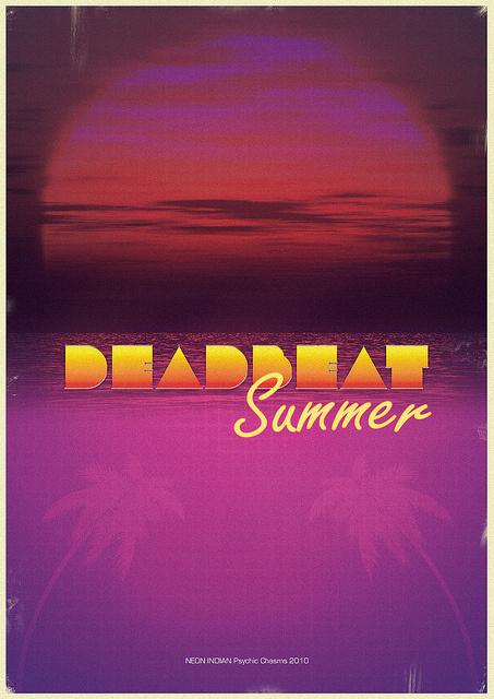 Deadbeat Summer #indian #90s #summer #poster #neon