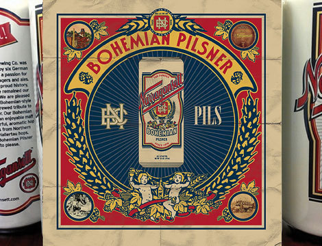 Narragansett Bohemian Pilsner Cans #packaging #beer